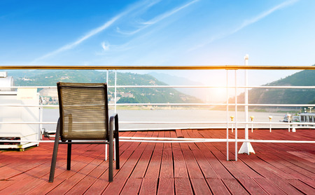 chair on red deck