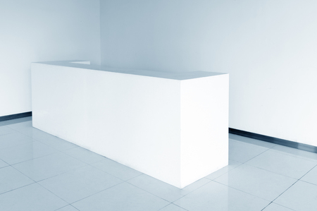 reception counter: Office Entrance Area interior with reception counter Stock Photo