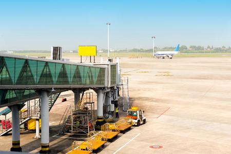 Shanghai Pudong Airport boarding bridge