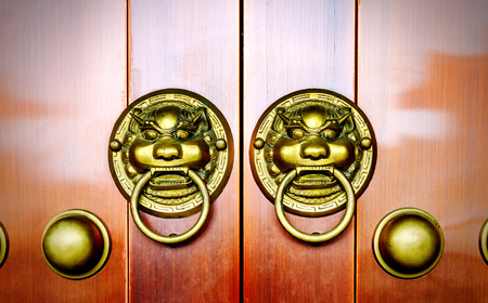 knocker: antique oriental door knocker