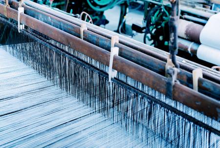 スレッドの織り機から、抽象的な背景 - セレクティブ フォーカス。