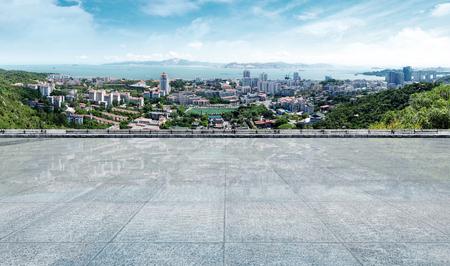 coastlines: aerial view of xiamen scenery from gulangyu island , China