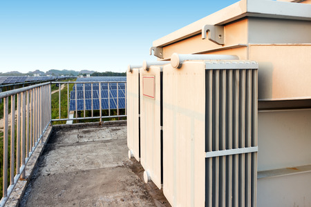 substation: Outdoor photovoltaic power plants and box-type substation