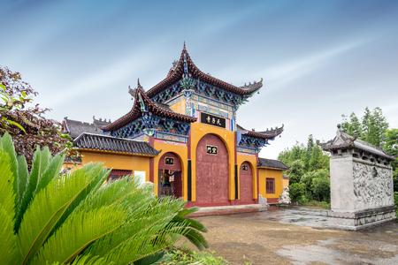 Bergen en bergen, oude Chinese boeddhistische tempels.
