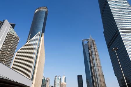High - rise buildings in Lujiazui financial district, Shanghai, China.