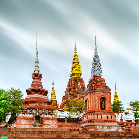 The famous Shwedagon Pagoda in Xishuangbanna, Yunnan, China. Stock Photo