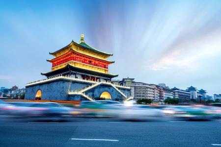 China Xian city landmark, the bell tower