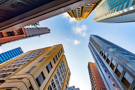 Modern city skyscrapers, Central, Hong Kong, China. Stock Photo