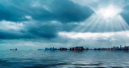 Haikou, Hainan Province Harbor Pier architectural landscape