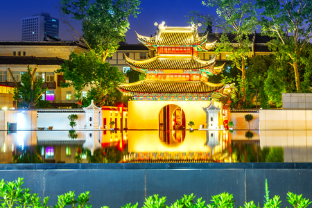 Classical building in Nanjing Confucius Temple, Nanjing, China.