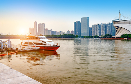 Pearl River and Guangzhou City Skyline