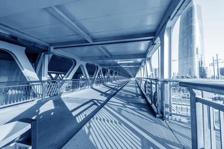 Pedestrian and non-motorized bridge Фото со стока - 120770800