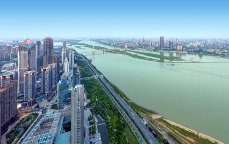 Aerial view of the city, Nanchang, China. Фото со стока - 120770807