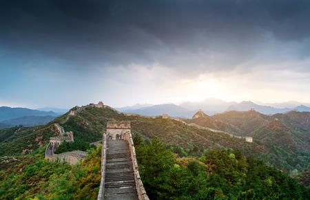 great wall, the landmark of china Imagens - 122771216
