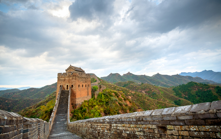 great wall, the landmark of china. Imagens - 122771367