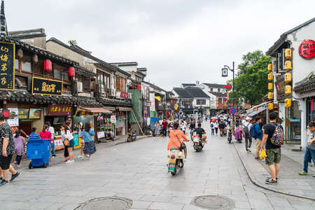 SUZHOU, China - June 23, 2018: Shantang Old Street is located in the northwest corner of Suzhou and connects to Tuen Mun in the east.