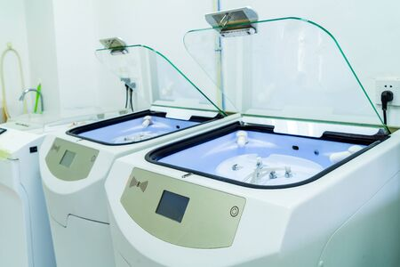 Endoscope cleaning workstation, modern medical equipment.