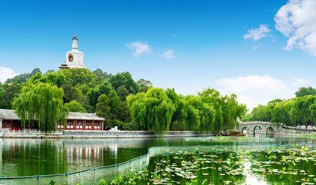 Beautiful Scene of Beijing Imperial Park: Beihai Banque d'images