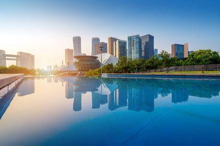 The skyscraper of Qianjiang New City CBD, Hangzhou, China. 版權商用圖片