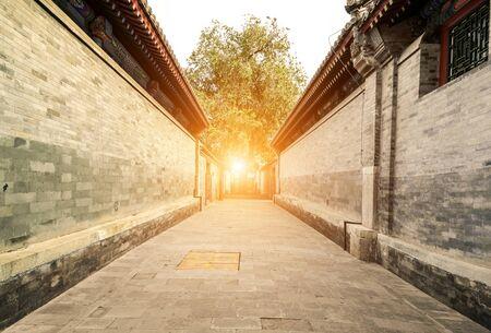 Traditionelle Architektur und Gassen in Peking