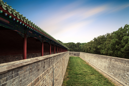 Chinese-style ancient architecture, Beijing, China.