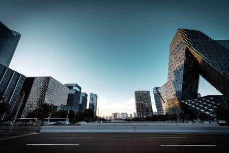 High-rises and roads, Chinas Ningbo city landscape.