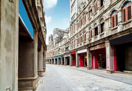 The building of Wennan Old Street was built in the 1920s in Hainan Island, China.