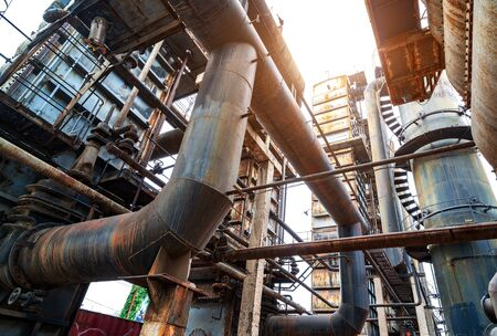 Massive metal construction an an abandoned factory Фото со стока