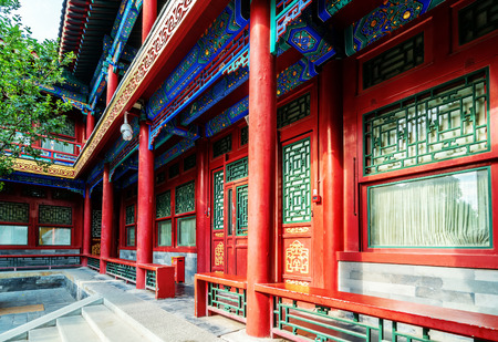 Prince Gongs Mansion is the residence of Prince Gong of the Qing Dynasty Редакционное