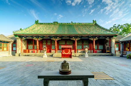 Prince Gongs Mansion is the residence of Prince Gong of the Qing Dynasty. Редакционное