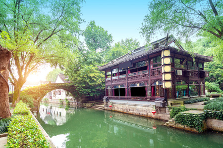 Shaoxing, China is a famous water town, and there are many ancient towns south of the Yangtze River.