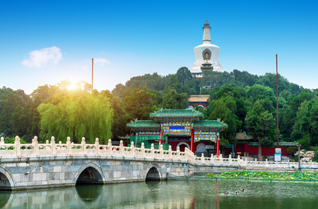 Beautiful Scene of Beijing Imperial Park: Beihai Редакционное