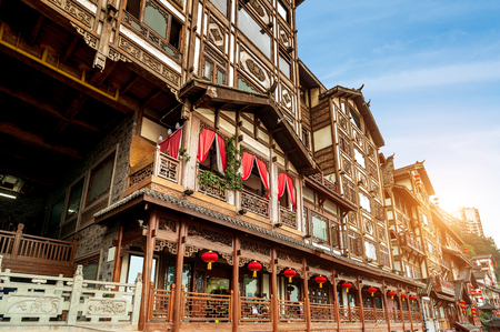 Chongqing, China's classical architecture Hongyadong.