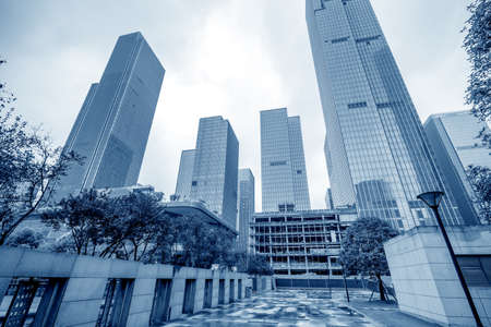 low angle view of skyscrapers in Chongqing,China. Stockfoto