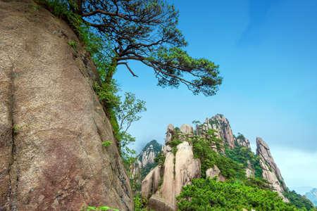 Beautiful mountains on the sky background, Jiangxi, China.