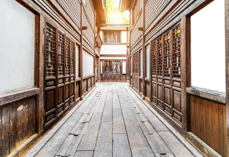 Old Chinese style building in Fuzhou residential area, Fujian, China. Stockfoto