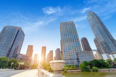 Highways and high-rise buildings, Shaoxing, Zhejiang, China.
