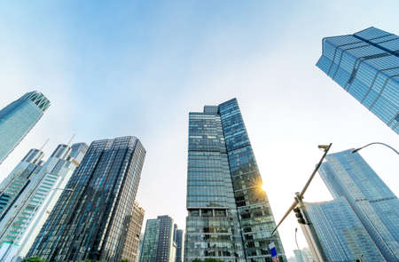 High-rise buildings in the financial district of the city, Beijing, China. Stockfoto