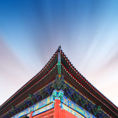 Detail of one of the interior constructions of the forbidden city in beijing
