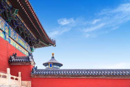 Historical building in Tiantan Park, Beijing, China.