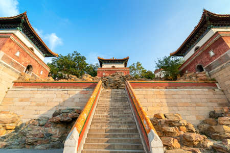 Ancient buildings of the Summer Palace in Beijing, China