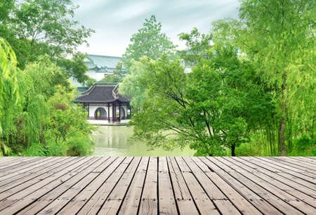 A classical garden located in Slender West Lake, Yangzhou, China.