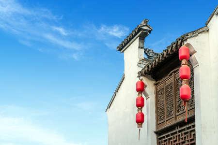 Chinese Huizhou Architecture, Wuxi, Jiangsu. Stockfoto