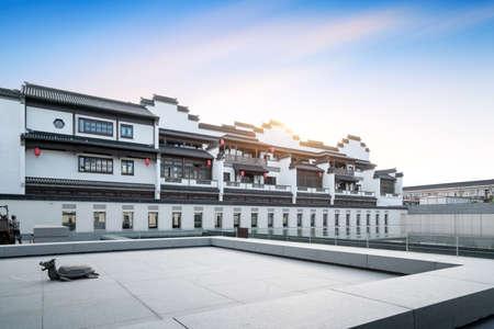 Classical building in Nanjing Confucius Temple, Nanjing, China.