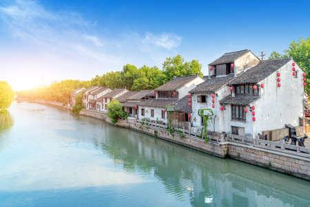 The ancient Beijing-Hangzhou Grand Canal, Wuxi, China.