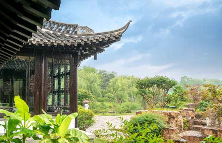 Located in Shouxihu Chinese Classical Garden, Yangzhou, Jiangsu. Stockfoto