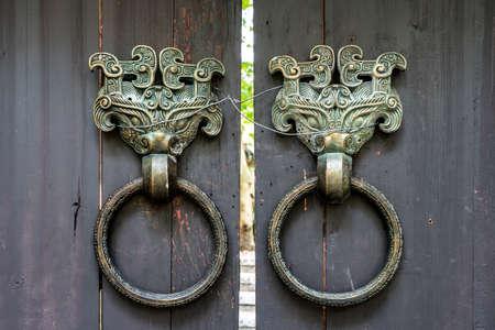Classical bronze beast door knocker