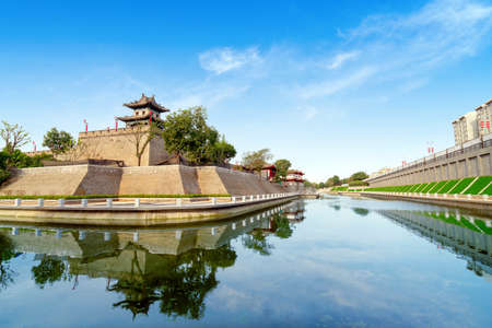 The corner tower of the ancient city wall of the Ming Dynasty was built in 1374 in Xi'an, China. Sajtókép