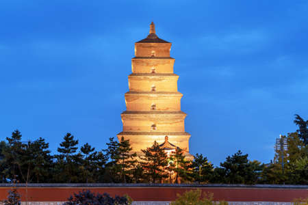 The Dayan Pagoda was built in 652 and is the earliest existing pagoda. Xi'an, China. Stock fotó - 156652130
