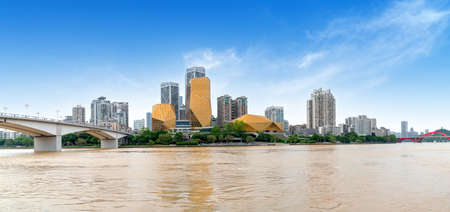 China Guangxi Liuzhou City Skyline